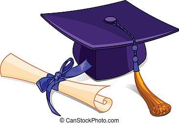 diploma, sapka, fokozatokra osztás