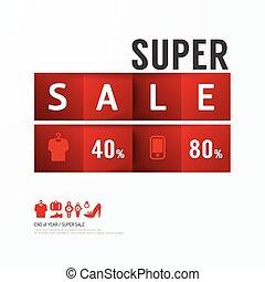 diszkont, .advertising, ikonok, felcímkéz vásár, banners., vektor, címzett