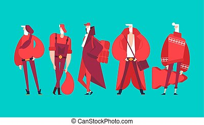 divatot utánzó, mód, elegáns, set., klaus, modern, grandfather., costume., clothes., szent, év, divatba jövő, elegáns, hadügyminisztérium, hipster., új, karácsony, ember