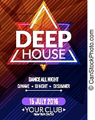 dj, poster., sound., ütő épület, flyer., mély, disco, transz, zene, éjszaka, fél, zenés, elektronikus, esemény