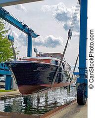 dob, wooden csónakázik, szüret