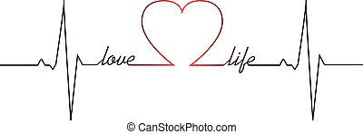 dobog, szív, élet, szeret