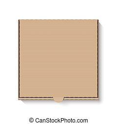 doboz, barna, kartonpapír, pizza