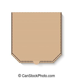 doboz, barna, kartonpapír, tiszta, pizza