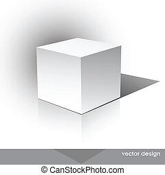 doboz, cube-shaped, szoftver, csomag