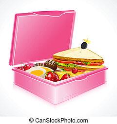 doboz, ebédel