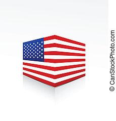 doboz, egyesült államok, lobogó, egyesült, amerika