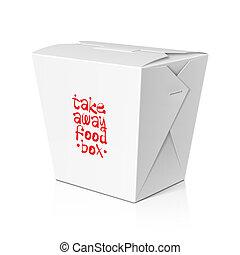 doboz, el, tökfej, fog, élelmiszer