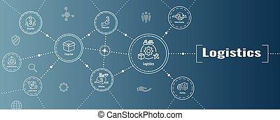 doboz, emberek, transzparens, logisztika, épületek, állhatatos, háló, ikon, teherkocsi, fejes, hajózás