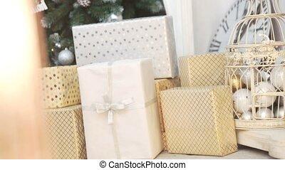 doboz, fa, cristmas, tehetség, karácsony