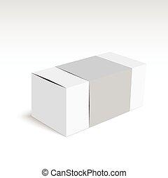 doboz, fehér, csomag