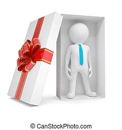 doboz, fehér, ember, tehetség, 3
