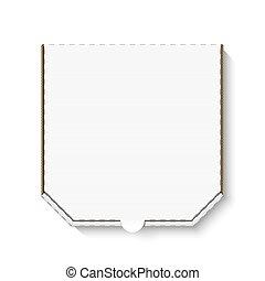 doboz, fehér, kartonpapír, tiszta, pizza