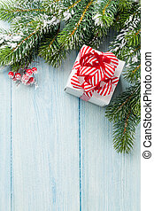 doboz, fenyő, tehetség, fa ág, karácsony