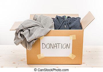 doboz, fogalom, fából való, ajándék, fehér, asztal, kartonpapír, öltözék