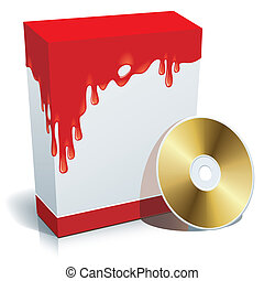 doboz, háttér, véres