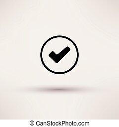doboz, illustration., elszigetelt, vektor, ellenőriz, ikon