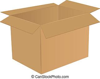 doboz, kartonpapír, üres