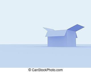 doboz, kartonpapír, nyílik, üres, 3