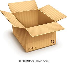 doboz, kartonpapír, nyílik