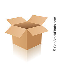doboz, kinyitott