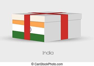 doboz, lobogó, india, tehetség