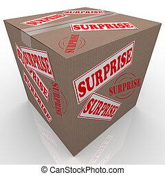doboz, meglep, shipped, kartonpapír, csomag