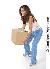 doboz, nő, 2, emelés