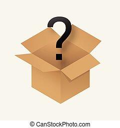 doboz, rejtély, ikon