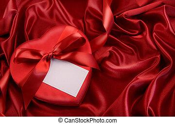 doboz, szalag, piros, csokoládé