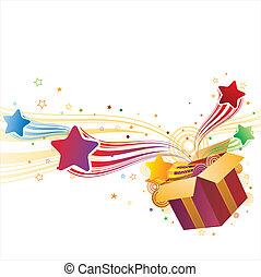 doboz, tehetség, csillag