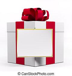doboz, tehetség, piros white, szalag, 3