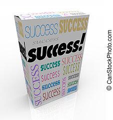 doboz, termék, pillanat, siker, maga, -, javítás, kínálat