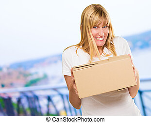 doboz, woman hatalom, kartonpapír