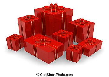 dobozok, állhatatos, piros, tehetség