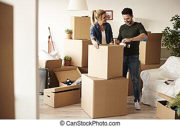 dobozok, csomagolás, kartonpapír, párosít, bőség, töm