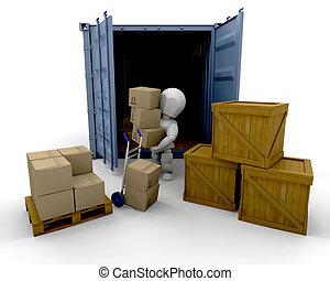 dobozok, kirakodás
