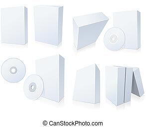 dobozok, szoftver, cd