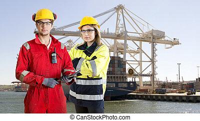 dockers, feltevő, hajó tároló, elülső