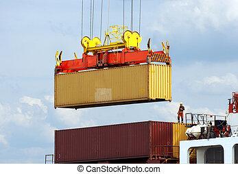 dockworker, tároló hajó