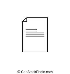 (document), (sign), jelkép, ábra, vektor, reszelő, icon.