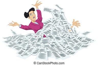 documents., üzletasszony, fulladás, megrohamoz