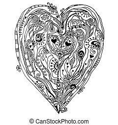 doddle, heart., eredeti, rajz