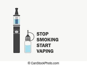 dohányzó, abbahagy, elindít, vaping