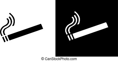 dohányzó, háttér, elszigetelt, ikon