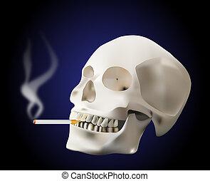 dohányzó, koponya