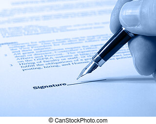 dokumentum, aláírás