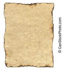 dolgozat, öreg, pergament