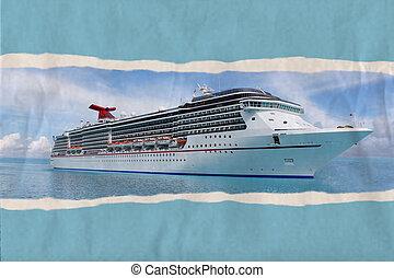 dolgozat, hajó, elszakadt, tropikus