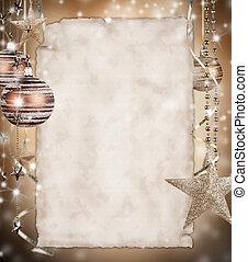 dolgozat, karácsony, háttér, tiszta